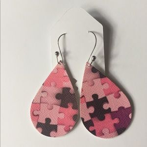 Jewelry - ✨Host Pick✨ Pink Shades Autism Awareness Earrings